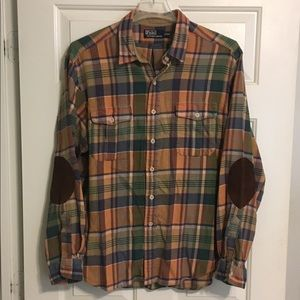 Polo RL Mens Plaid Button Up Outdoor Shirt Sz XXL